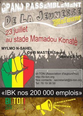 Affiche pour la marche du samedi 23 juillet