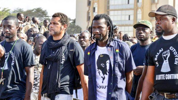 Les leaders du '' balai Citoyen '' Lors d'une manifestation