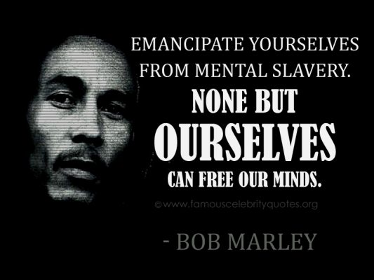 Citation de Bob Marley prise sur Dico Citation
