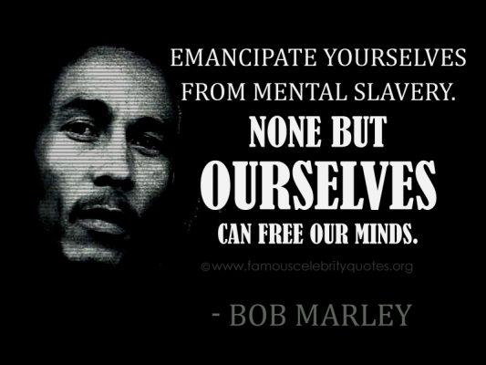 Citation de Bob Marley prise sur Dico Citation